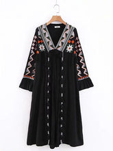 Load image into Gallery viewer, Autumn V Neck Tassel Bohemia Maxi Dress