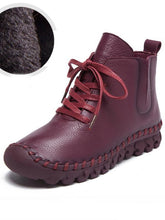 Load image into Gallery viewer, Winter Solid Color Genuine leather Booties