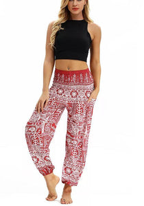 Printed belly dance pants women loose casual yoga pants