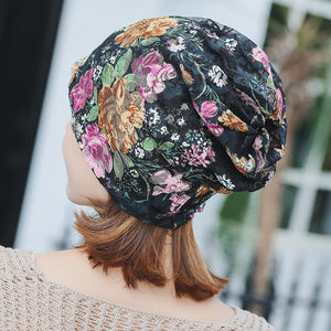 Boho Lace Floral Double-layer Casual Outdoor Hat