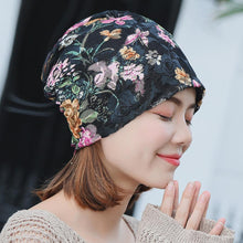 Load image into Gallery viewer, Boho Lace Floral Double-layer Casual Outdoor Hat