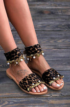 Load image into Gallery viewer, Casual Leopard Open Toe Flat Sandals