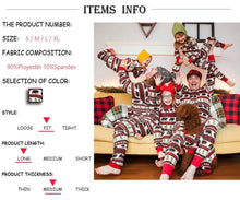Load image into Gallery viewer, Fashion Round Neck Button Special Christmas Print Jumpsuit Matching Outfit