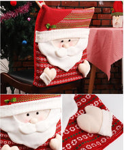 Load image into Gallery viewer, Snowman Santa Claus Home Christmas Chair Decoration