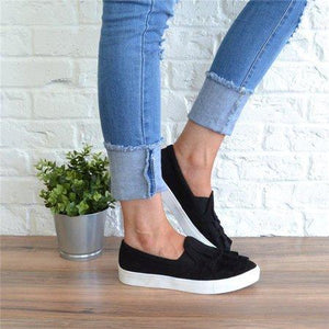 2018 Simple Flower Casual Flats Loafer Shoes