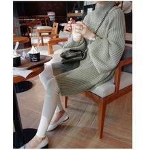Load image into Gallery viewer, Turtleneck Split Hem Knitted Pullover Sweaters