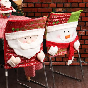 Snowman Santa Claus Home Christmas Chair Decoration