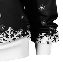 Load image into Gallery viewer, Santa Claus Print Oblique Shoulder Long Sleeve Tops