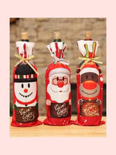 Load image into Gallery viewer, 2018 Christmas decorations red wine bottle set