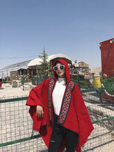 Load image into Gallery viewer, Folk Style Hooded Thick Warm Tibet Travel Scarf Shawl Cloak