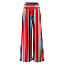 Load image into Gallery viewer, New Loose Striped Printed Trousers Flared Wide-leg Pants