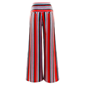 New Loose Striped Printed Trousers Flared Wide-leg Pants