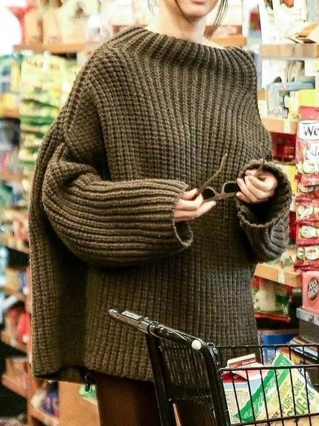 Loose Casual Knitting Sweater