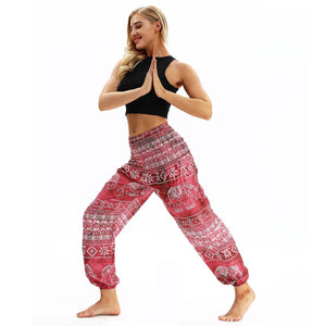 Elephant big Pattern Digital Printing Yoga Pants Loose Women's Sports Lantern Pants Belly Dance Casual Yoga Pants 2