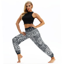 Load image into Gallery viewer, Totem print Women's Casual Light Lantern Dance Pants Popular In Autumn Yoga Loose Pants