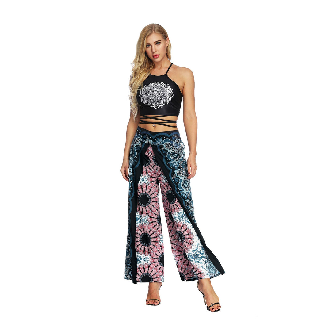 Fashion Ethnic Digital Printing High-waist Wide-leg Yoga Pants Leisure 2