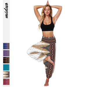 Women Digital Printing Loose Casual Fashion Dance Bloomers Yoga Pants