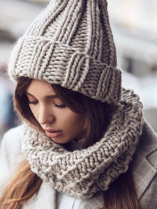 Winter Knit Solid Color Hat