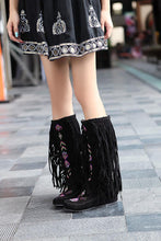 Load image into Gallery viewer, National Style Casual Tassel Bottom Increased Boots