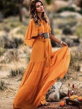 Load image into Gallery viewer, Sexy Sleeveless Loose Stitching Autumn Long Dress Maxi Dress
