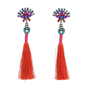 Fashion best tassel long earrings 5 colors 1 pair for jewelry accessories bohemia style Xmas party