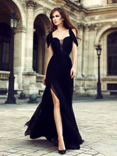Load image into Gallery viewer, Chiffon Waisted Split-side Evening Dress