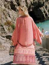 Load image into Gallery viewer, Hippie Floral Printed Kimono Long Sleeve Thin Vintage Belt Cover Up