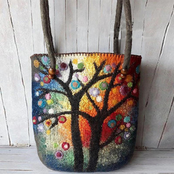 Tassel Design Vintage Painting style Bag
