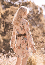 Load image into Gallery viewer, Vintage Floral Print Wrap Mini Dress V-Neck Long Sleeve Women Boho Dresses