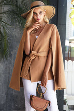 Load image into Gallery viewer, Long Sleeve Belt V Neck Winter Clock Coat