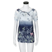 Load image into Gallery viewer, Womens Lace Blouses Summer Short Sleeve Tops Loose Shirt