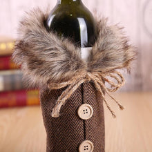 Load image into Gallery viewer, Christmas Red Wine Bottle Clothes Restaurant Decoration Props Bow Wine Bottle Set