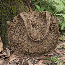 Load image into Gallery viewer, Exquisite Retro Women Hollowed Round Straw Weaving Bag