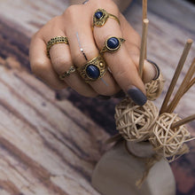 Load image into Gallery viewer, 5 pcs BOHO ring set 2 colors statement style bohemia party