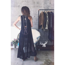 Load image into Gallery viewer, Delicate embroidery beaded V-backless dress skirt