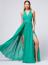 Load image into Gallery viewer, Bohemia style solid color backless evening dress