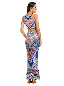 Bohemia Backless Pleats Long Maxi Dresses