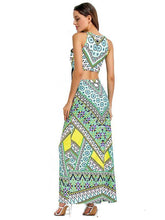 Load image into Gallery viewer, Bohemia Backless Pleats Long Maxi Dresses
