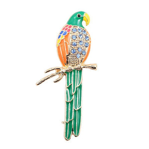 Gem Parrot brooch - 2