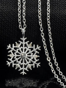 Charms Crystal Snowflake Zircon Christmas Sweater Necklace