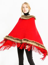 Load image into Gallery viewer, Women Artificial fur warm Pullover Cloak Shawl