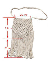 Load image into Gallery viewer, Handmade Cotton Knitting Bohemia Tassel Bag