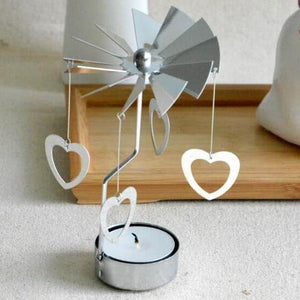 Rotate romantic candle holder Xmas  Spinning your Christmas party
