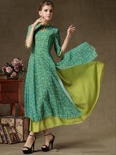 Load image into Gallery viewer, Vintage False Two-piece Maxi Dress