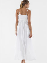Load image into Gallery viewer, Pretty Sexy Straps V Neck Waisted Lace-Up Beach Vacation Maxi Dress