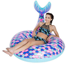 Load image into Gallery viewer, Inflatable Floating Mermaid Swim Ring Environmental PVC Mount Swimming Toy