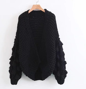 Knit Hollow Long Sleeve Cardigan Outwear Sweater