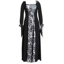Load image into Gallery viewer, Vintage Dress Women Gothic Long Sleeve Hooded Maxi Dress Long Gown Party Dresses Loose Square Collar robe femme Plus Size