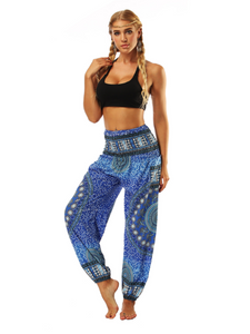 National Style Nepal dot seaside loose wide-legged casual pants fitness exercise yoga lantern pants women 4