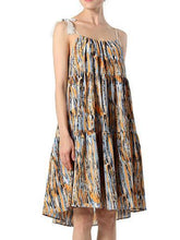 Load image into Gallery viewer, Popular Fashion Strapes Off-Shoulder Sleeveless Loose Big Hem Bonemia Beach Dress
